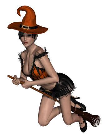 bruja sexy: Bruja de Halloween Foto de archivo