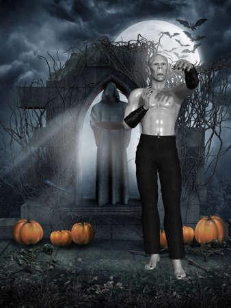 sexy devil: Vampire Stock Photo