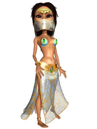 belly dancer: Female Toon Figure Belly Dancer