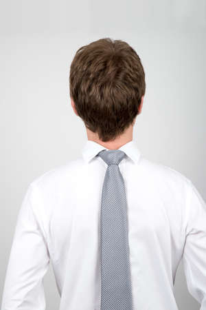 befuddled: Office worker back to front