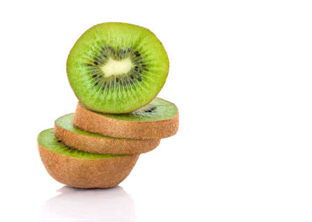 mouthwatering: Sliced kiwi fruit with crossection Stock Photo