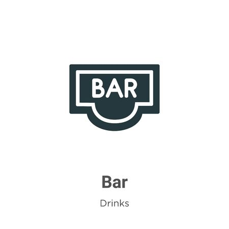 Bar vector icon on white background. Flat vector bar icon symbol sign from modern drinks collection for mobile concept and web apps design. Ilustrace