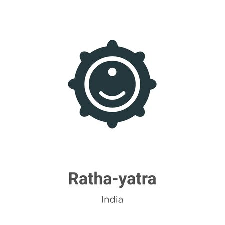 Ratha-yatra vector icon on white background. Flat vector ratha-yatra icon symbol sign from modern india collection for mobile concept and web apps design.