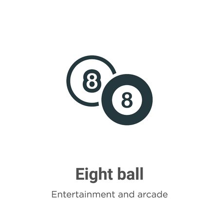 Eight ball vector icon on white background. Flat vector eight ball icon symbol sign from modern entertainment and arcade collection for mobile concept and web apps design.