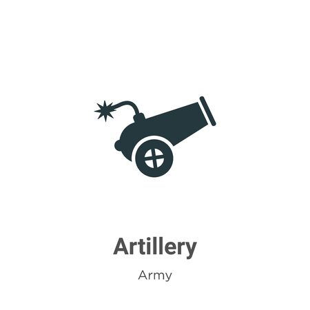 Artillery vector icon on white background. Flat vector artillery icon symbol sign from modern army collection for mobile concept and web apps design.