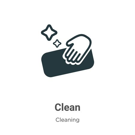 Clean vector icon on white background. Flat vector clean icon symbol sign from modern cleaning collection for mobile concept and web apps design.