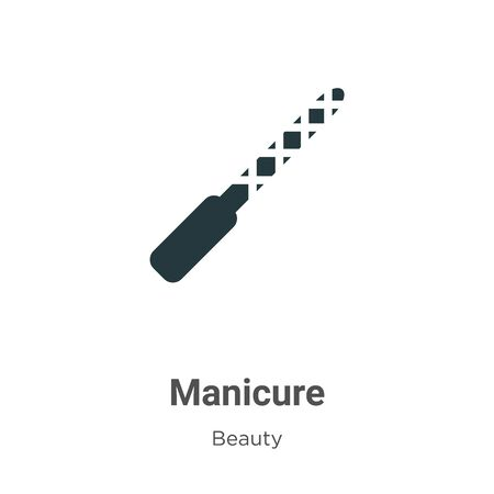 Manicure vector icon on white background. Flat vector manicure icon symbol sign from modern beauty collection for mobile concept and web apps design.