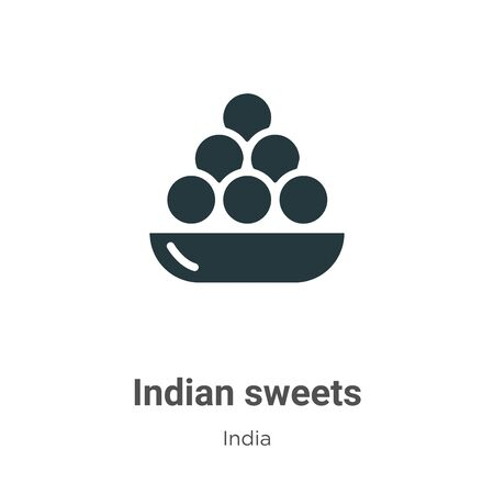 Indian sweets vector icon on white background. Flat vector indian sweets icon symbol sign from modern india collection for mobile concept and web apps design. Illustration