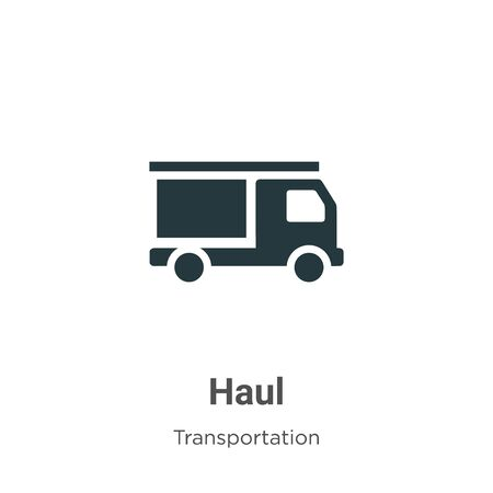 Haul vector icon on white background. Flat vector haul icon symbol sign from modern transportation collection for mobile concept and web apps design.