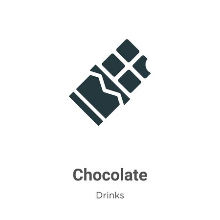 Chocolate vector icon on white background. Flat vector chocolate icon symbol sign from modern drinks collection for mobile concept and web apps design.