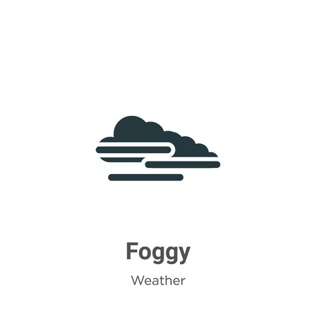 Foggy vector icon on white background. Flat vector foggy icon symbol sign from modern weather collection for mobile concept and web apps design. Illustration