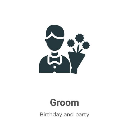 Groom vector icon on white background. Flat vector groom icon symbol sign from modern birthday and party collection for mobile concept and web apps design.