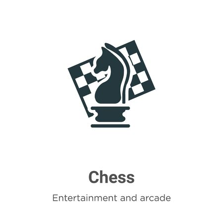 Chess vector icon on white background. Flat vector chess icon symbol sign from modern entertainment and arcade collection for mobile concept and web apps design.