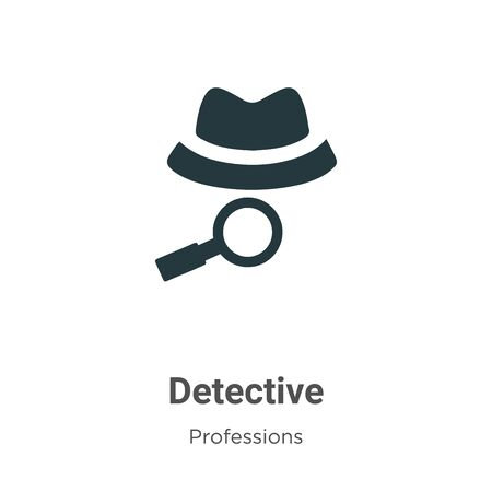 Detective vector icon on white background. Flat vector detective icon symbol sign from modern professions collection for mobile concept and web apps design.