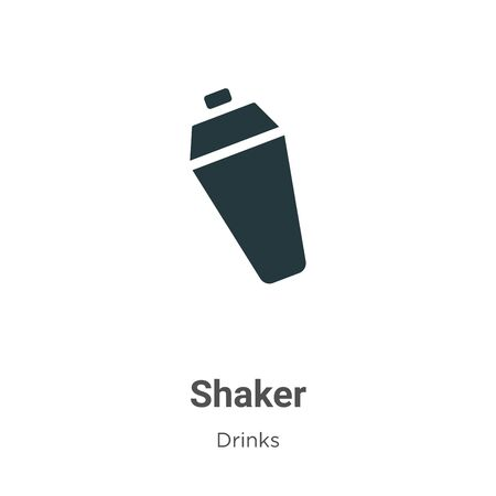 Shaker vector icon on white background. Flat vector shaker icon symbol sign from modern drinks collection for mobile concept and web apps design.