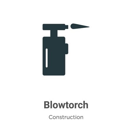 Blowtorch vector icon on white background. Flat vector blowtorch icon symbol sign from modern construction collection for mobile concept and web apps design.