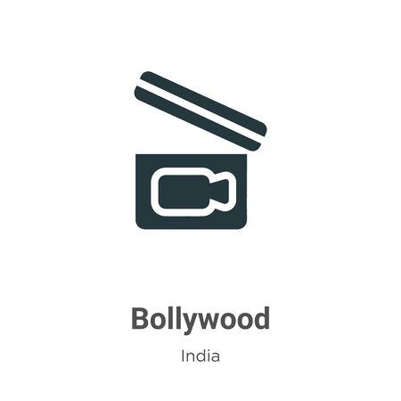 Bollywood vector icon on white background. Flat vector bollywood icon symbol sign from modern india collection for mobile concept and web apps design.
