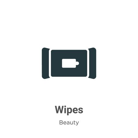 Wipes vector icon on white background. Flat vector wipes icon symbol sign from modern beauty collection for mobile concept and web apps design.