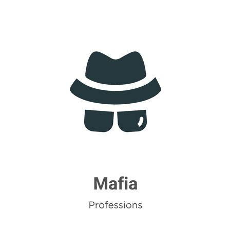 Mafia vector icon on white background. Flat vector mafia icon symbol sign from modern professions collection for mobile concept and web apps design.