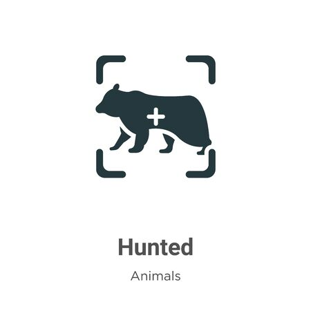 Hunted vector icon on white background. Flat vector hunted icon symbol sign from modern animals collection for mobile concept and web apps design.