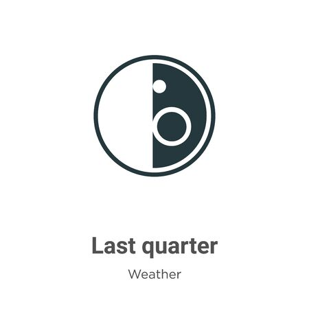 Last quarter vector icon on white background. Flat vector last quarter icon symbol sign from modern weather collection for mobile concept and web apps design.