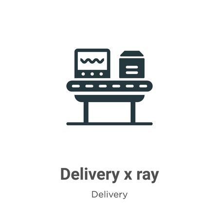 Delivery x ray vector icon on white background. Flat vector delivery x ray icon symbol sign from modern delivery collection for mobile concept and web apps design.