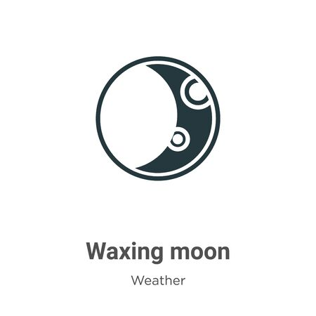 Waxing moon vector icon on white background. Flat vector waxing moon icon symbol sign from modern weather collection for mobile concept and web apps design.