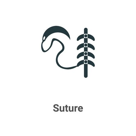 Suture vector icon on white background. Flat vector suture icon symbol sign from modern sew collection for mobile concept and web apps design.