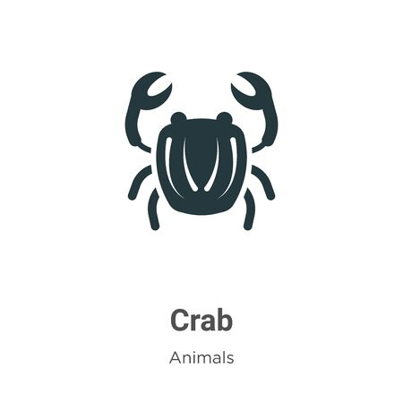Crab symbol vector icon on white background. Flat vector crab symbol icon symbol sign from modern animals collection for mobile concept and web apps design. 向量圖像