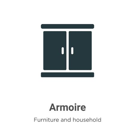 Armoire vector icon on white background. Flat vector armoire icon symbol sign from modern furniture and household collection for mobile concept and web apps design.