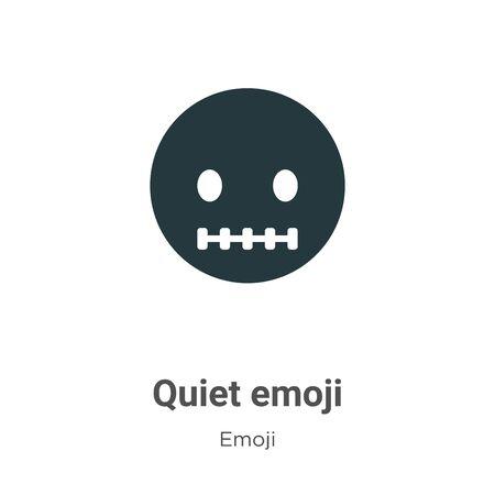 Quiet emoji vector icon on white background. Flat vector quiet emoji icon symbol sign from modern emoji collection for mobile concept and web apps design. Ilustración de vector