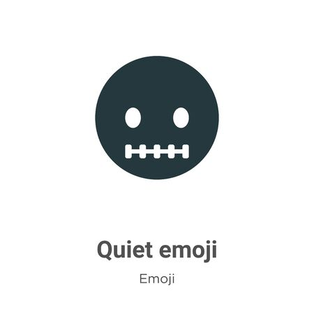 Quiet emoji vector icon on white background. Flat vector quiet emoji icon symbol sign from modern emoji collection for mobile concept and web apps design. 向量圖像