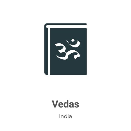 Vedas vector icon on white background. Flat vector vedas icon symbol sign from modern india collection for mobile concept and web apps design. Illustration
