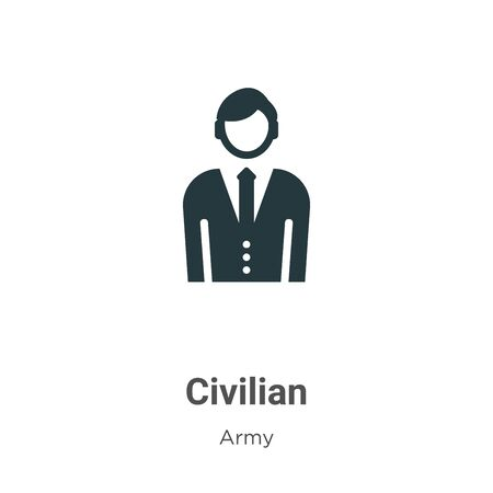 Civilian vector icon on white background. Flat vector civilian icon symbol sign from modern army collection for mobile concept and web apps design.