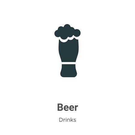 Beer vector icon on white background. Flat vector beer icon symbol sign from modern drinks collection for mobile concept and web apps design.