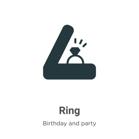 Ring vector icon on white background. Flat vector ring icon symbol sign from modern birthday and party collection for mobile concept and web apps design. Ilustracja