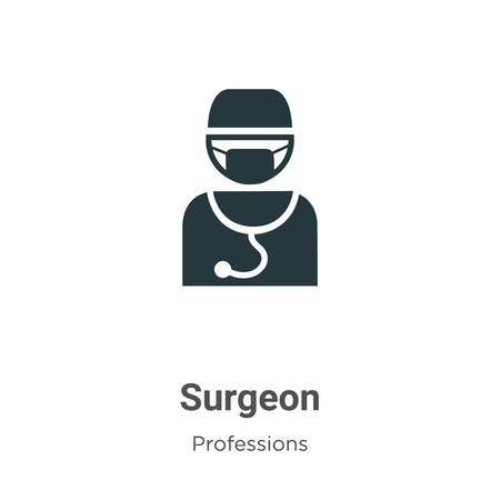 Surgeon vector icon on white background. Flat vector surgeon icon symbol sign from modern professions collection for mobile concept and web apps design.