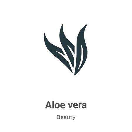 Aloe vera vector icon on white background. Flat vector aloe vera icon symbol sign from modern beauty collection for mobile concept and web apps design.