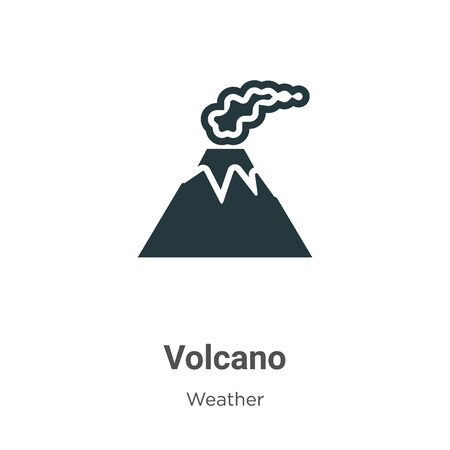 Volcano vector icon on white background. Flat vector volcano icon symbol sign from modern weather collection for mobile concept and web apps design.