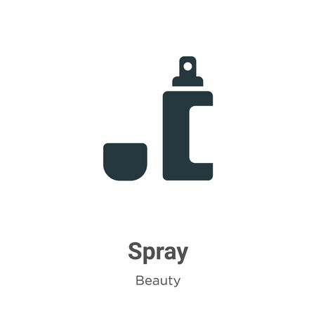 Spray vector icon on white background. Flat vector spray icon symbol sign from modern beauty collection for mobile concept and web apps design.