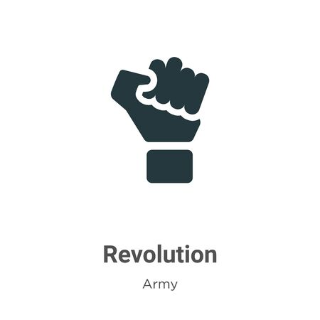 Revolution vector icon on white background. Flat vector revolution icon symbol sign from modern army collection for mobile concept and web apps design.