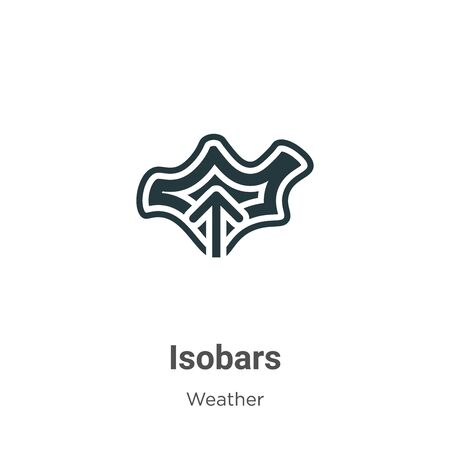 Isobars vector icon on white background. Flat vector isobars icon symbol sign from modern weather collection for mobile concept and web apps design. 向量圖像