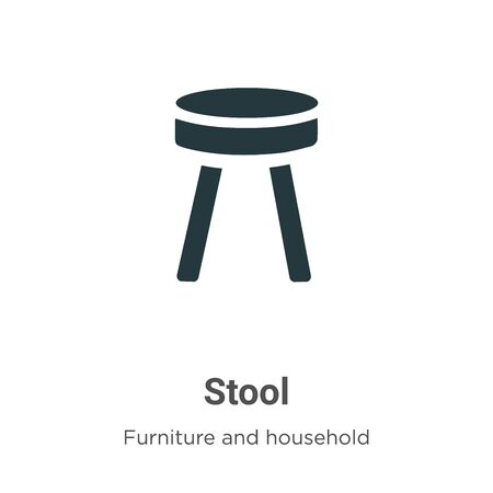 Stool vector icon on white background. Flat vector stool icon symbol sign from modern furniture and household collection for mobile concept and web apps design.