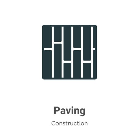 Paving vector icon on white background. Flat vector paving icon symbol sign from modern construction collection for mobile concept and web apps design.