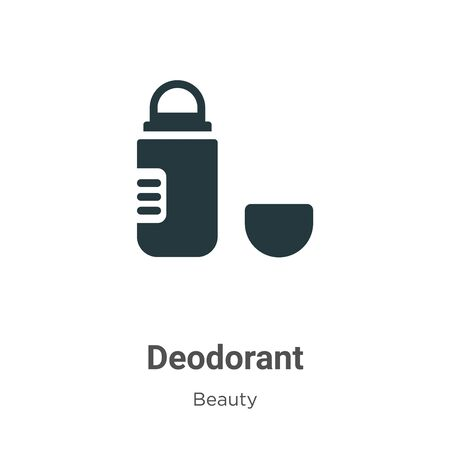Deodorant vector icon on white background. Flat vector deodorant icon symbol sign from modern beauty collection for mobile concept and web apps design.