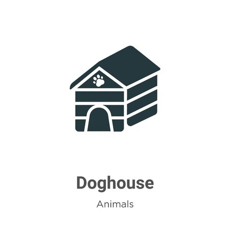 Doghouse vector icon on white background. Flat vector doghouse icon symbol sign from modern animals collection for mobile concept and web apps design. Ilustrace