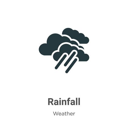 Rainfall vector icon on white background. Flat vector rainfall icon symbol sign from modern weather collection for mobile concept and web apps design.