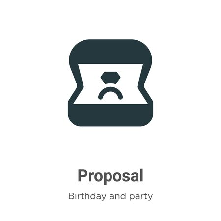 Proposal vector icon on white background. Flat vector proposal icon symbol sign from modern birthday and party collection for mobile concept and web apps design. Imagens - 142511798