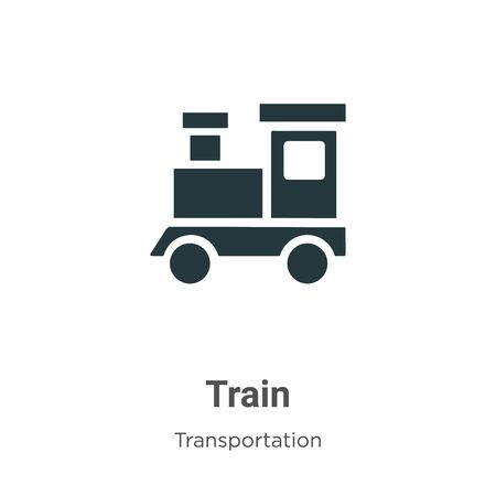 Train vector icon on white background. Flat vector train icon symbol sign from modern transportation collection for mobile concept and web apps design.