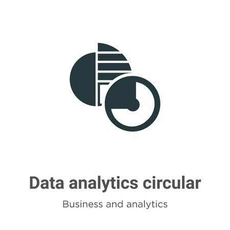 Data analytics circular vector icon on white background. Flat vector data analytics circular icon symbol sign from modern business and analytics collection for mobile concept and web apps design.
